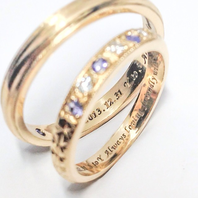 gold wedding rings with engraving Rui & Aguri Fine Jewelry