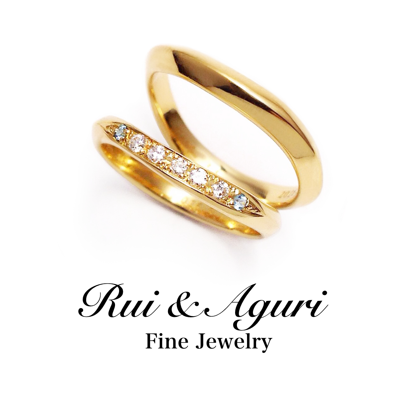 engagement ring with engraving Rui & Aguri Fine Jewelry